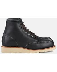 """Red Wing Women's Work 6"""" Moc Toe Boots (3373) - Black"""