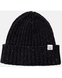 Norse Projects Neps Beanie Hat (lambswool) - Gray