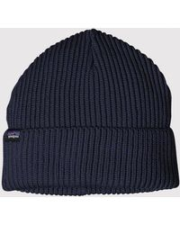 Patagonia Fisherman's Rolled Beanie Hat - Blue
