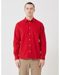 Norse Projects Osvald Corduroy Shirt - Red