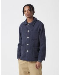 Le Laboureur Wool Work Jacket - Blue