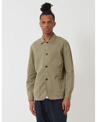 Portuguese Flannel Labura Workwear Jacket (cotton) - Green