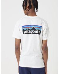 Patagonia P-6 Logo Responsibili T-shirt - White