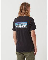 Patagonia P-6 Logo Organic T-shirt - Black