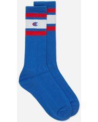 Champion Stripe Sports Socks - Blue