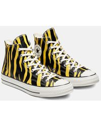 Converse 70's Archive Print Chuck Taylor Hi Sneakers - Yellow