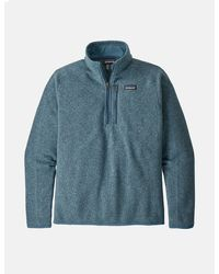 Patagonia Better Jumper 1/4 Zip Fleece - Blue