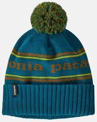 Patagonia Powder Town Beanie (park Stripe Knit) - Blue