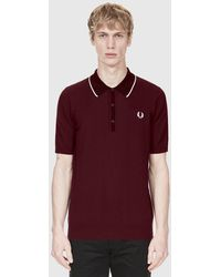 76986791b61 Fred Perry - Pointelle Knitted Polo Shirt - Lyst