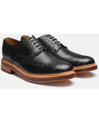 Grenson Black Leather Archie Brogues
