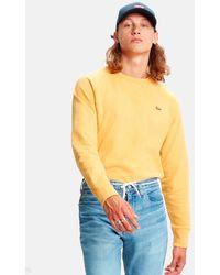 Levi's Original Hm Icon Crew Sweatshirt - Yellow
