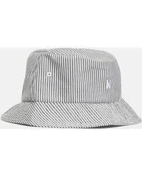 9b82b5c23cc Lyst - Moncler Gamme Bleu Grey Seersucker Bucket Hat in Gray for Men