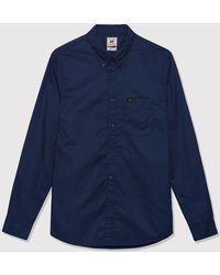 Lee Jeans Button Down Shirt - Blue