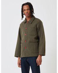 Le Laboureur Wool Work Jacket - Green