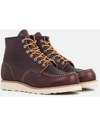 """Red Wing 6"""" Moc Toe Work Boots (8138) - Brown"""