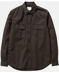 Norse Projects Villads Light Twill Overshirt - Black