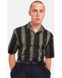 Fred Perry - Stripe Revere Collar Shirt - Lyst