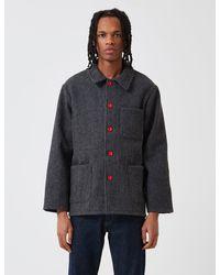 Le Laboureur Wool Work Jacket - Gray