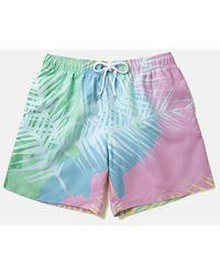 Boardies Tropicano Swim Shorts (mid-length) - Blue