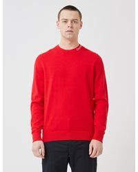 Calvin Klein Calvin Klein Institutional Collar Logo Jumper - Red