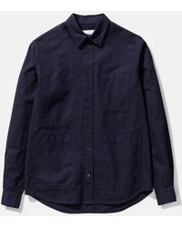 Norse Projects Thorsten Canvas Shirt - Blue