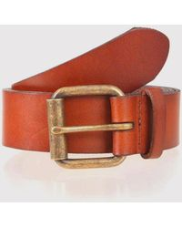Dents - Casual Waxed Leather Belt - Lyst
