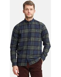 Norse Projects Black Cotton Watch Anton Flannel Check Long Sleeve Shirt