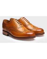 Grenson Stanley Calf Brogue Shoes - Brown