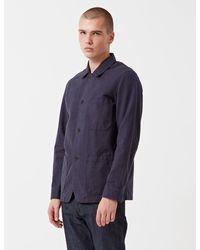 Portuguese Flannel Pinheiro Chore Jacket - Blue