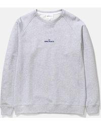 Norse Projects Ketel Wave Logo Sweatshirt - Gray
