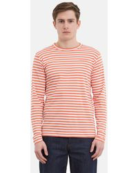 Norse Projects - James Logo Stripe Ls Burned Red - Lyst