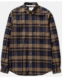 Norse Projects Anton Brushed Flannel Shirt (check) - Green