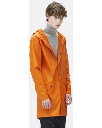 Rains Long Jacket - Orange