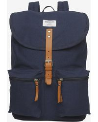 Sandqvist Roald Ground Organic Cotton Backpack - Blue