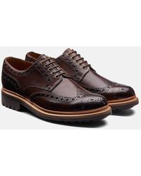 Grenson Archie Brogue Shoes - Brown