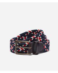 Barbour Ford Plaited Belt - Red