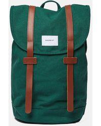 Sandqvist Stig Backpack (canvas) - Green