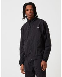 Fred Perry - Monochrome Shell Jacket - Lyst