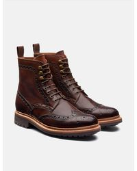 Grenson Fred Brogue Boot - Brown