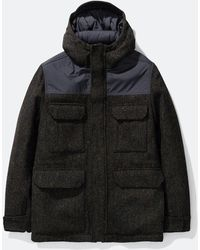 Norse Projects Nunk Harris Tweed Coat - Black