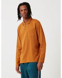 Stussy Dillon Long Sleeve Polo Shirt - Red