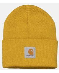 Carhartt Wip Watch Cap Beanie Hat - Yellow