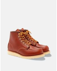 Red Wing 6 Inch Moc Toe Mens Boot - Red