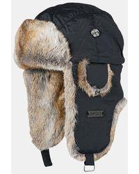 Barts Kamikaze Winter Fur Trapper Hat - Black