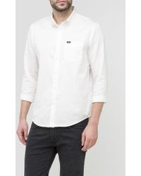 Lee Jeans Button Down Shirt - White
