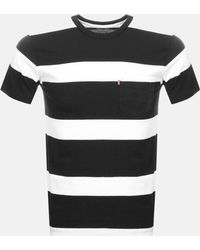 Levi's Set-in Sunset Pocket T-shirt (stripe) - Black