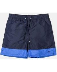 Norse Projects Hauge Block Swim Shorts - Blue