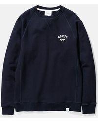 Norse Projects Ketel Ivy Wave Logo Sweatshirt - Blue