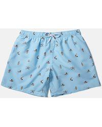 Boardies X Amh Yoga Swim Shorts (short) - Blue