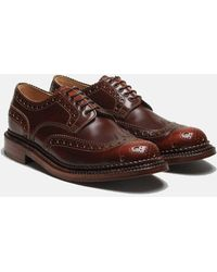 Grenson Archie Triple Welt Brogues - Brown